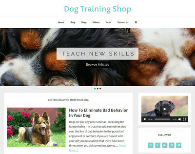 New Design    Dog Training   Store Blog Website Business For Sale Auto Content