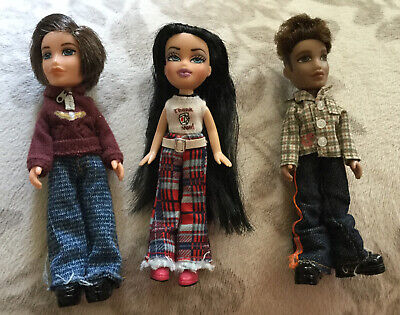 Mini Bratz Doll Lot Koby, Dylan, Jade W Outfits And Shoes Boys Girl