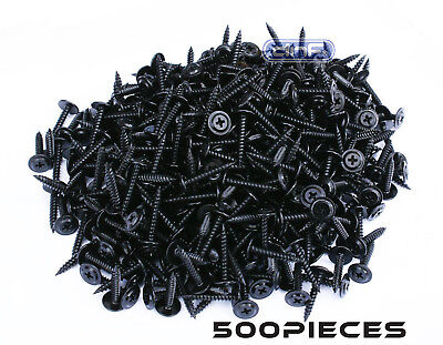 500 Pack Phillips Wafer Head Screws Twinfast Thread Black Phosphate 8 X 1