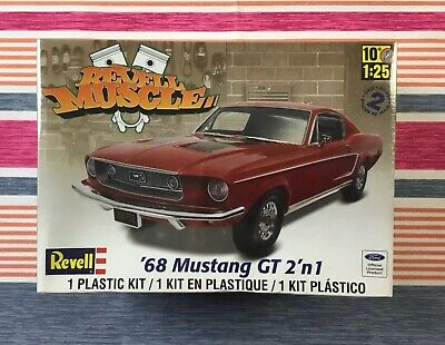 Revell 1968 Ford Mustang GT 2 in 1 1/25 Scale Model Kit 85-4215 SEALED