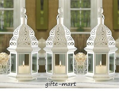 """15 White Moroccan 12"""" Candle holder lantern florist wedding table centerpieces"""
