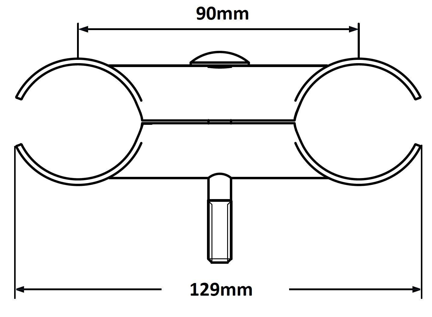 Doppelschelle BAUZAUNSCHELLE Zaunverbinder Pfostenverbinder Pfostenschelle Zaun