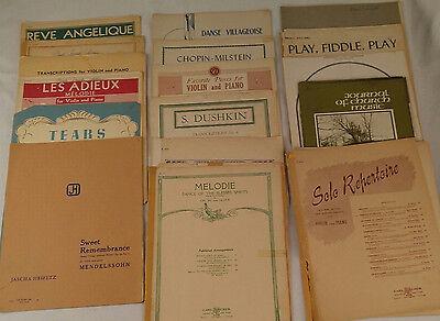 Lot of Violin Piano Sheet Music Books Vtg Antique Classical