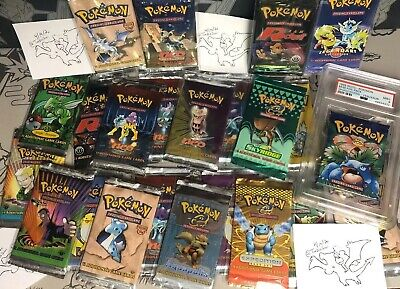 Pokemon Random Power Box! WOTC booster packs! Skyridge Neo 1st Ed Fossil Base