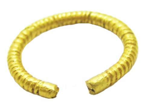 5th - 3rd century B.C. Iron Age Celtic Gold Plated Penannular Finger Ring Size 7
