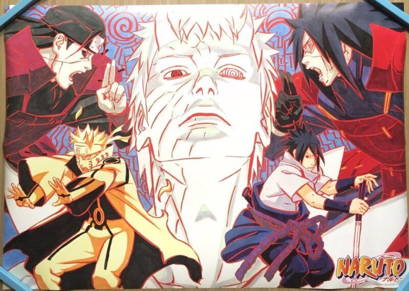 【Roll Type】NARUTO Anime Obito/Sasuke/Hikage B2 Size Original Poster