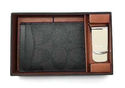 Coach Men's Card Case Gift Set In Signature Shadow Boxed Money Clip F41344 $95