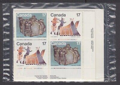 CANADA SEALED PLATE BLOCKS 835-836 INUIT - SHELTER & COMMUNITY, SUMMER TENT