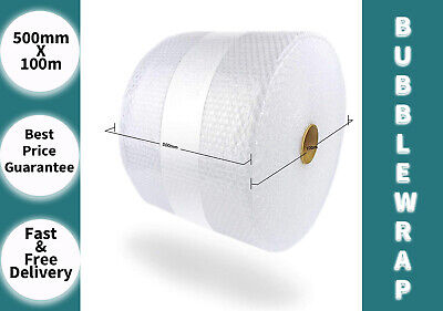 500mmx100m Bubble Wrap Rolls For Moving Packing, Shipping Supplies