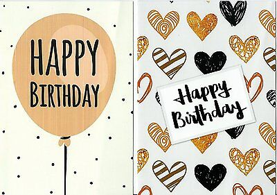 Pack of 10 Budget Birthday Cards, Modern Designs & Envelopes by Greetingles