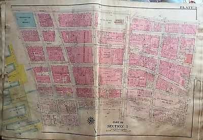 1907 Updated 1912 Lower Manhattan Financial District St Pauls Ny Plat Atlas Map