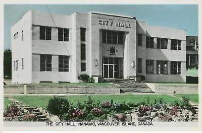 City Hall Nanaimo BC Vancouver Island British Columbia Real Photo Postcard RPPC for sale  Victoria