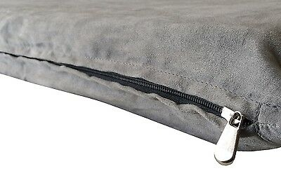 "Gray Suede Comfortable Soft Durable Pet Dog Bed Cover Large - 47""x29"" Flat Style"