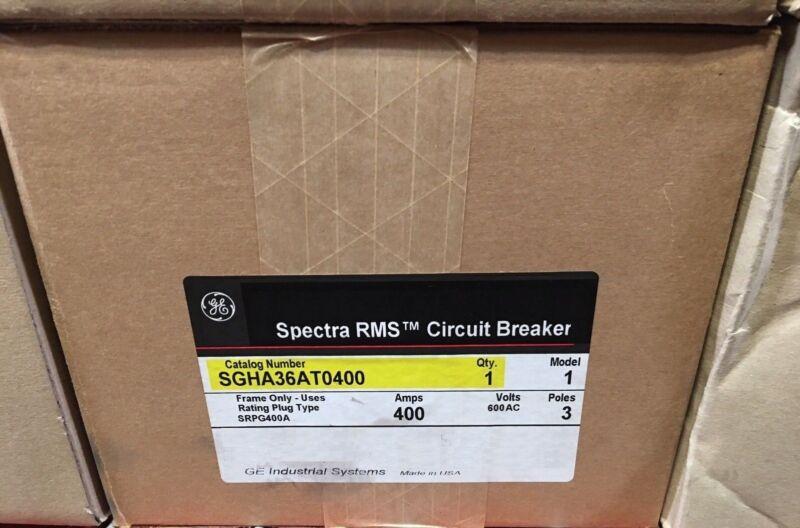GE SGHA36AT0400 NEW IN BOX NIB Spectra RMS Circuit Breaker