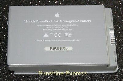 "Apple PowerBook G4 15"" (Aluminum) Battery A1078 825-6430-A 661-2927"