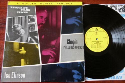 CHOPIN PRELUDES SIGNED PIANO LP ELINSON GOLDEN GUINEA (1959) GGL 0175 ENGLAND