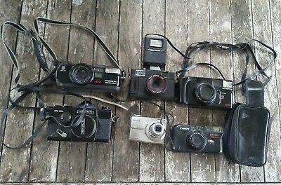 Camera Lot UNTESTED Lot of 6 Cameras Argus Canon Minolta Olympus Kodak
