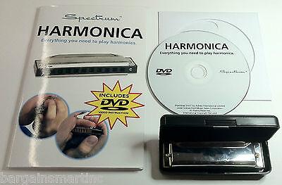 New Diatonic Harmonica C Key 10 Hole 20 Tone w/ Case+Instructional  Manual & DVD on Rummage