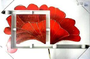 Decoration peinture sur bois murale design en relief fleurs g jb ebay - Decoration murale design ...