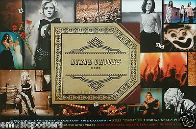 "DIXIE CHICKS ""HOME"" U.S. PROMO ALBUM POSTER - Country, Bluegrass Music"