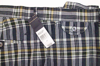 Madras Flat Front Short (Polo Ralph Lauren Flat Front INDIA Madras Plaid Shorts  $79  Blue Green Gold NWT)