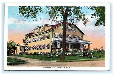 Whittier Inn Hampton New Hampshire Nh Postcard 1934 Rockingham County E C  Kropp