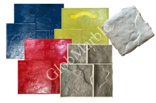5Pc Set Ashlar Slate Concrete Stamps, GlobMarble Imprint Stamping Mats SM 3003
