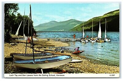 Postcard Loch Tay and Ben Lawers Kenmore Scotland posted 1983