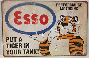 ESSO Tin Metal Sign Rustic Look .. MAN CAVE . brand new. AU SELLER
