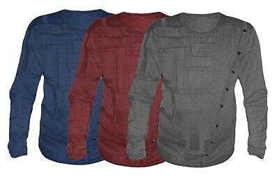 Maglia Da Uomo Girocollo 100% Cotone Maglione Pullover M.2117 Vari Colori mnt