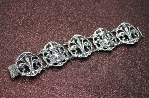 Antique Vintage Sterling Silver 925 Italy SALAMONE Bracelet SMALL the best