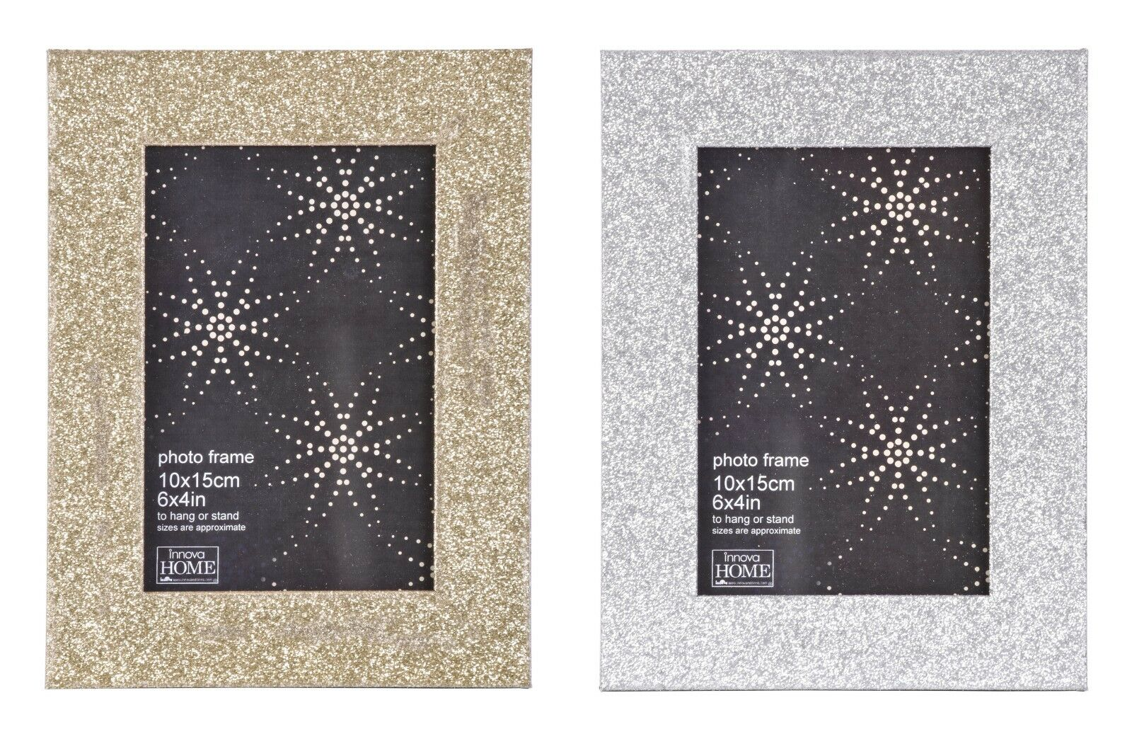3b5fe966f6e Details about Modern Glitter Photo Picture Frame Holds 6X4