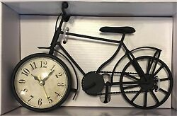 Better Homes and Gardens Decorative Bicycle Table Clock Bike Decor Ships from US