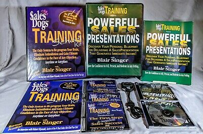 Blair Singer Sales Dogs Training School Kit + Powerful Sales Presentations Lot