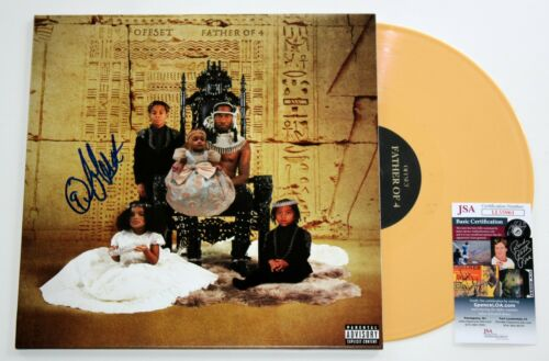OFFSET SIGNED FATHER OF FOUR LP VINYL RECORD ALBUM MIGOS AUTOGRAPHED +JSA COA