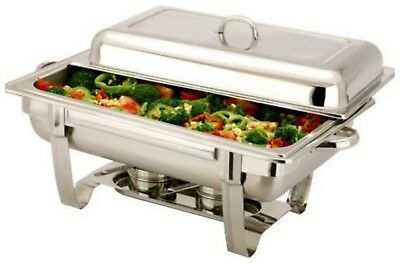 Vinod SINGLE COMPARTMENT 8.5 L  Chafing BUFFET DISH / PARTY FOOD WARMER.  Single Compartment Dish
