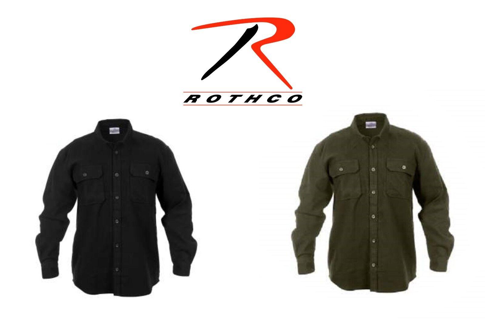 Rothco's Buffalo Heavyweight Mens Solid Black or Olive Green