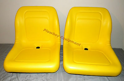 2 Yellow Vinyl Seats John Deere Gator Model E-gator Cs Cx 4x4 Trail Hpx Te Pair