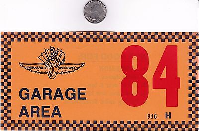 1984 Fiero Pace Car  1984 Indy 500 Admittance Decal   Very Rare   Perfect