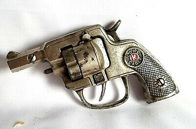 KILGORE LONE EAGLE TOY CAP PISTOL 50 SHOT AUTOMATIC REPEATER CAST IRON