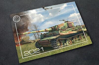 Wandkalender 2021 Panzer Panzerkampfwagen VI Tiger I & II Wehrmacht 59 x 42 cm