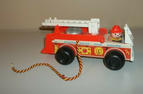 Vintage 1968 Fisher Price Firetruck Pull Toy - #720