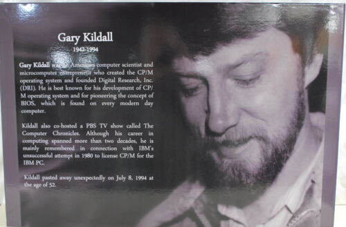"""20""""X30"""" Computer Museum Graphic  Panel of Gary Kildall Ships Worldwide"""