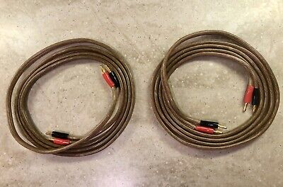 8 Foot Copper Wire Speaker Cables with Banana Plugs both A/B connections Banana Plug Connections