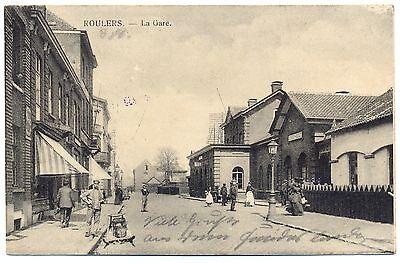 Roulers, La Gare, Bahnhof, Feldpost AK 1915