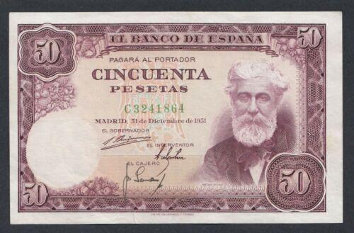 A5308 Spain Spania 50 pesetas 1951
