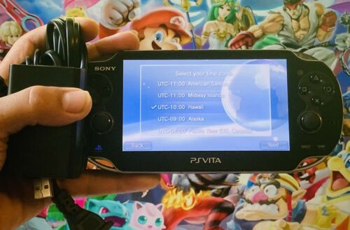 Sony PlayStation PS Vita PSV Console OLED Wi-Fi PCH-1000 + C