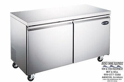 Saba 48 2 Door Commercial Under-counter Refrigerator Ss Steel Food Storage