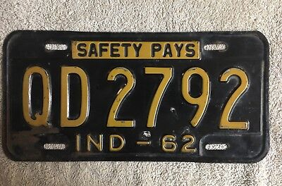 Good Solid Original 1962 Indiana License Plate See My Other Plates