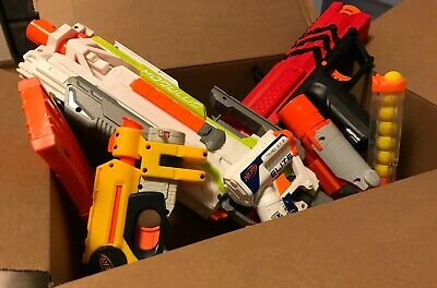 Set of FOUR Nerf Guns, Excellent Quality! Includes TWO BONUS ACCESSORIES